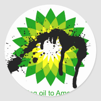 BP we re bringing oil to american shores Stickers