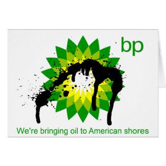 BP we're bringing oil to american shores Card