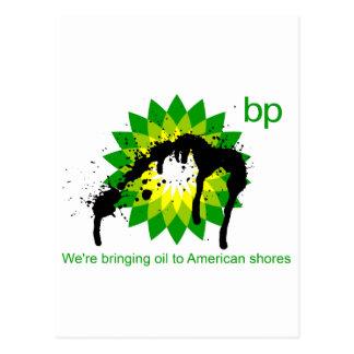 BP we're bringing oil to american shores Postcard