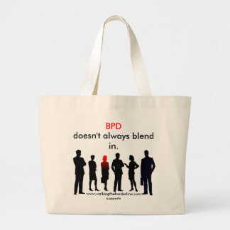 BPD Doesn't Always Blend In Large Tote Bag