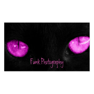 BPUR Black Cat Purple Eyes Business Card