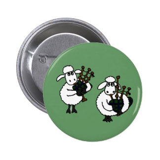 BQ- Awesome Sheep Playing Bagpipes Button