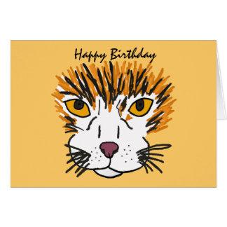 BQ- Cool Cat Birthday Card
