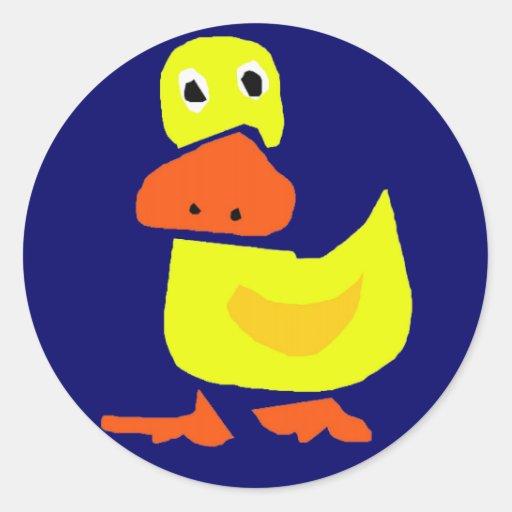 BQ- Funky Duck cartoon Sticker
