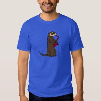 BQ- Funky Ferret Playing the Saxophone T-shirt