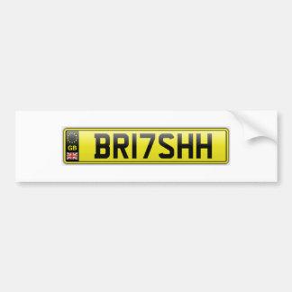 BR17 SHH CAR BUMPER STICKER