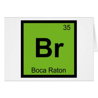 Br - Boca Raton Florida Chemistry Periodic Table Card