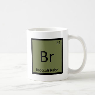 Br - Broccoli Rabe Vegetable Chemistry Symbol Coffee Mug