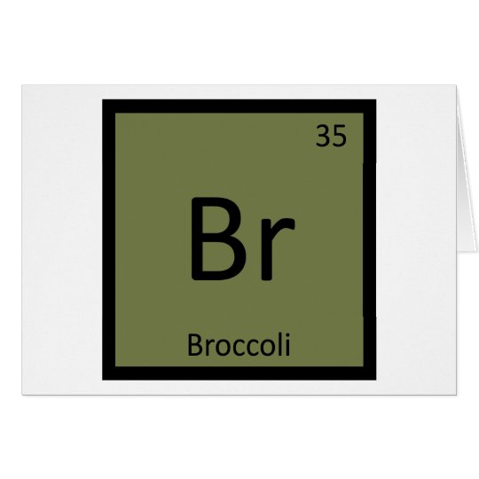 Br broccoli vegetable chemistry periodic table zazzle br broccoli vegetable chemistry periodic table urtaz Images