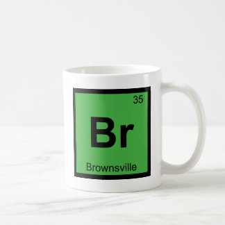 Br   Brownsville Texas Chemistry Periodic Table Coffee Mug