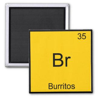 Br - Burritos Chemistry Element Symbol Funny 2 Inch Square Magnet