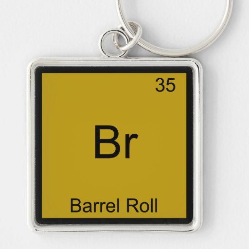 Br - camiseta divertida de la química de Meme del  Llavero Cuadrado Plateado