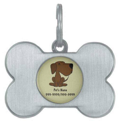 BR- Chocolate Labrador Dog Pet Tag