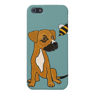 BR- Cute Boxer Puppy Dog and Bee Cartoon iPhone SE/5/5s Case