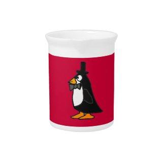 BR- Cute Penguin in a Tuxedo Pitcher