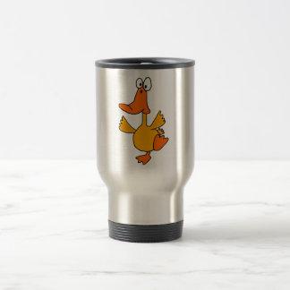 BR- Dancing Duck Cartoon Travel Mug