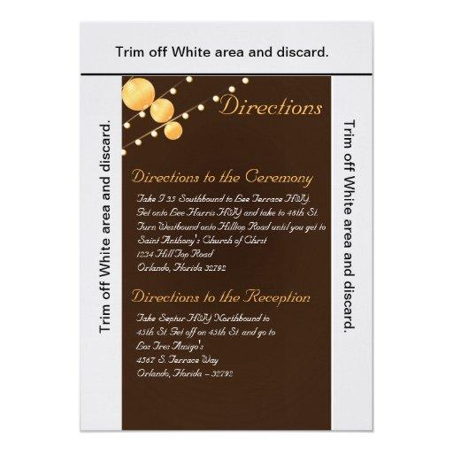 Br de las linternas de papel de la tarjeta de las comunicados