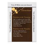 Br de las linternas de papel de la tarjeta de las invitación 12,7 x 17,8 cm