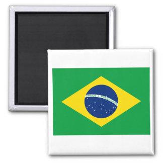 BR del Brasil Imán Cuadrado