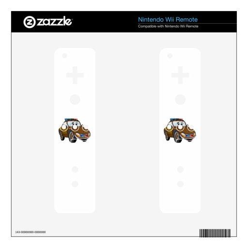 BR del dibujo animado 2 del coche del sheriff Skins Para elMando De Wii