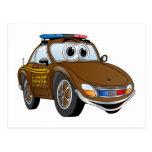 BR del dibujo animado 2 del coche del sheriff Postal