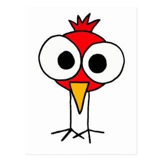 BR- Funny Redbird Cartoon Postcard