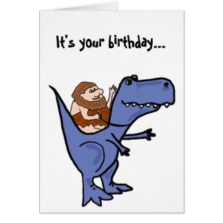 BR- Funny T-Rex Birthday Card