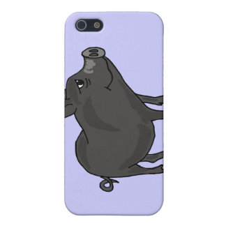 BR- Pot Bellied Pig Cartoon Case For iPhone SE/5/5s