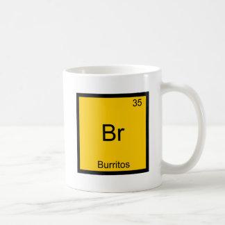 Br - símbolo del elemento de la química de los Bur Taza Básica Blanca