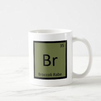 Br - símbolo vegetal de la química de Rabe del Taza Básica Blanca