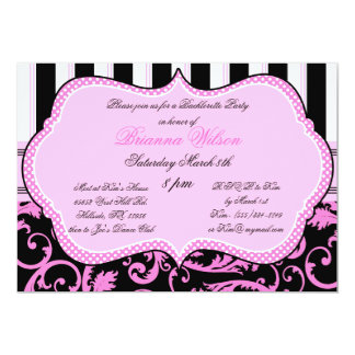 "Bra and Panty Size Bachelorette Party Invitation 5"" X 7"" Invitation Card"
