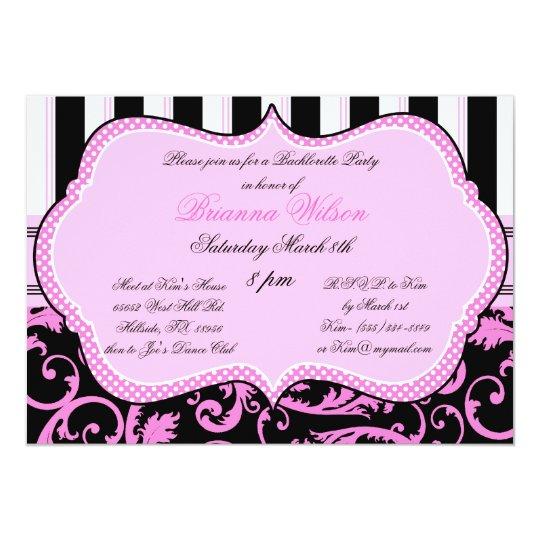 Bra and Panty Size Bachelorette Party Invitation – Party Invitation Size