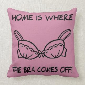 Bra Comes Off Throw Pillow