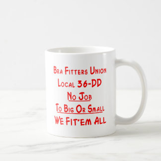 bra fitters union local 36dd coffee mug