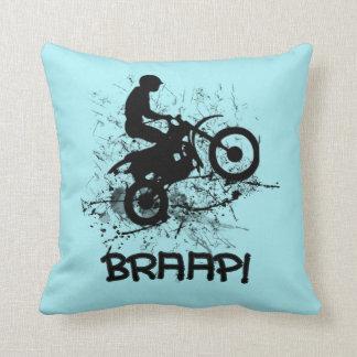 Braap Motocross Dirt Bikers Throw Pillow