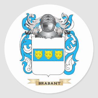 Brabant Coat of Arms (Family Crest) Round Stickers