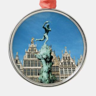 Brabo Fountain Grote Markt Antwerp Belgium Metal Ornament