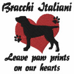 Bracchi Italiani Leave Paw Prints Hoody