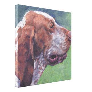 bracco italiano Fine Art on Gallery Wrapped Canvas