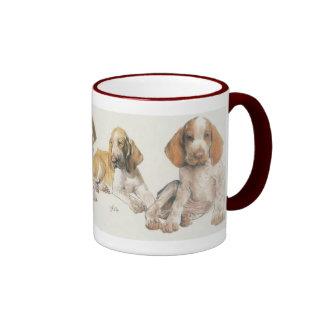 Bracco Italiano Puppies Ringer Mug