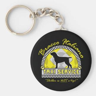 Bracco Italiano Taxi Service Keychain