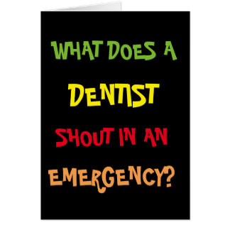BRACE! BRACE! BRACE! Funny Dentist Emergency Joke Card