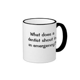 BRACE! BRACE! BRACE! Funny Dentist Emergency Joke Ringer Mug
