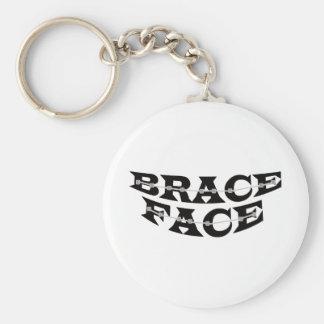 BRACE FACE keychain
