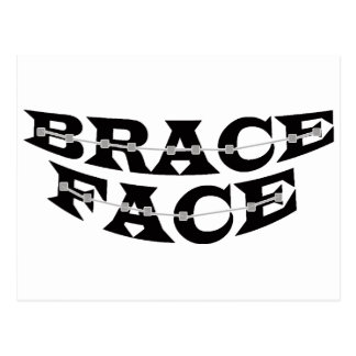 BRACE FACE  Postcard