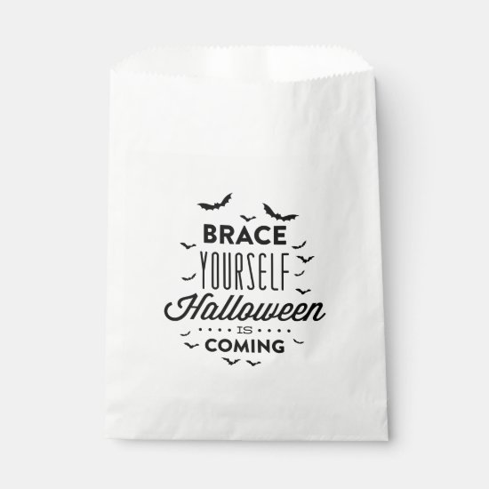BRACE YOURSELF HALLOWEEN Halloween Favor Bag