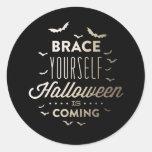 BRACE YOURSELF HALLOWEEN Halloween Sticker