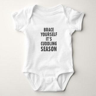 Brace yourself, it's cuddling season baby bodysuit