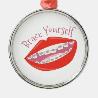 Brace Yourself Metal Ornament