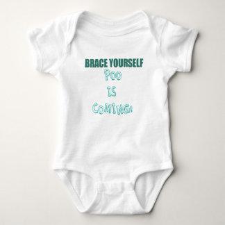 Brace yourself! Poo is coming Baby Bodysuit